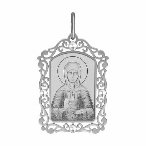 Иконка из серебра с алмазной гранью и лазерной обработкой