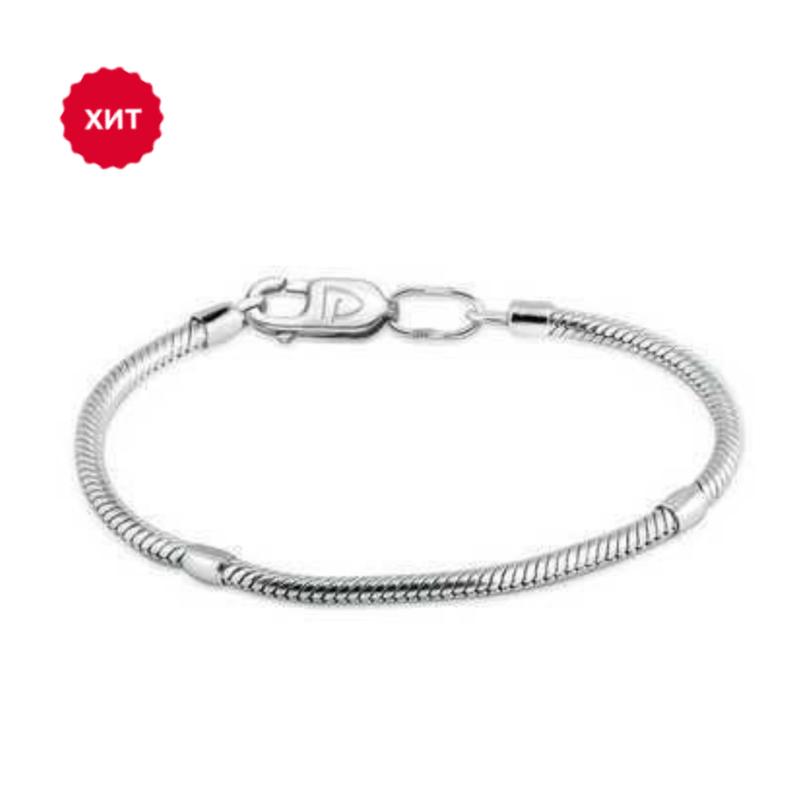 Серебряный браслет для шармов (размер 18)