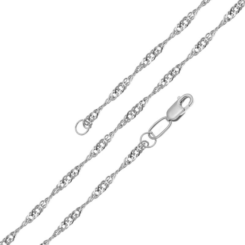 Серебряная цепь размер 45