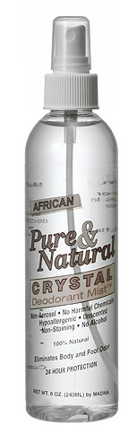 Pure & Natural Crystal Deodorant Mist - 8oz