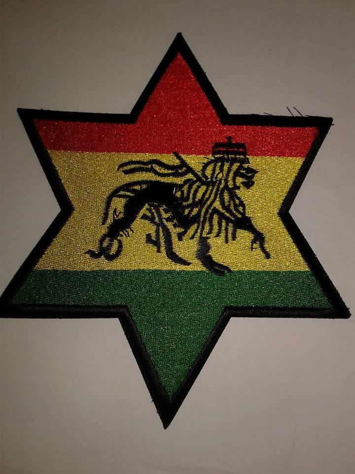 Iron On Patch-6 Point Star of Judah Patch (Large)