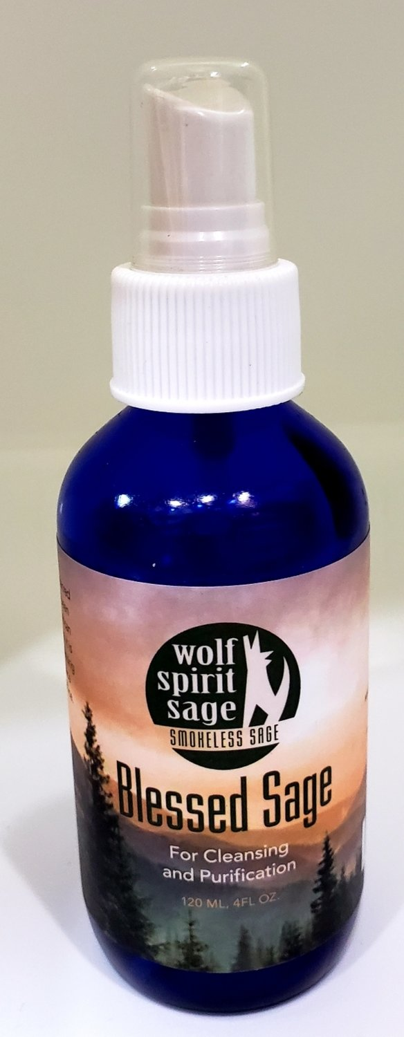 Wolf Spirit Sage (Smokeless Sage) Blessed Sage for Cleansing and Purification 4oz