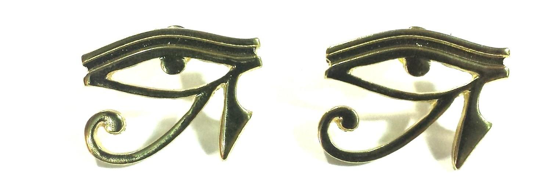 Eye of Horus (Heru) Earrings (Gold Color)