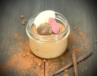 Mousse au chocolat maison, crème de marrons