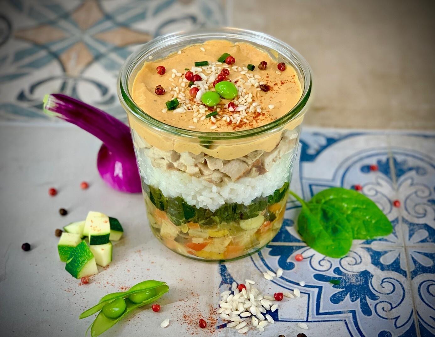 Poulet Suisse au curry rouge Thaï  LARGE