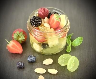 Salade de fruits frais de saison sirop vanille
