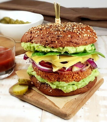 Sandwich burger Mexicain végétarien