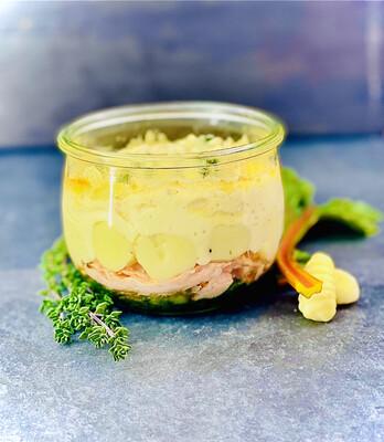 Saumon à la Provençale, gnocchi et pesto LARGE
