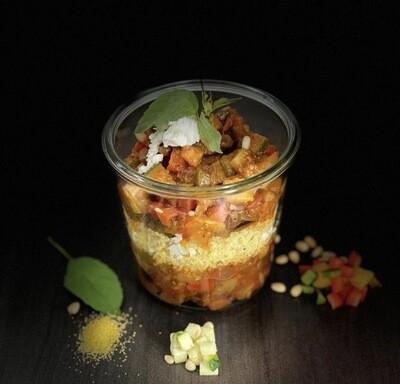 Ratatouille aux légumes de la ferme et polenta au pesto LARGE