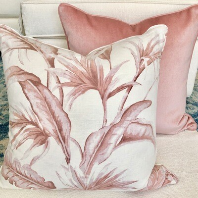 Pink Palm Pillow