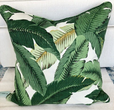 Tommy Bahama Green Palm Pillow