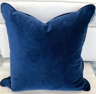 Indigo Blue Velvet Fabric By The Yard