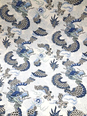 Blue Dragon Fabric By The Yard