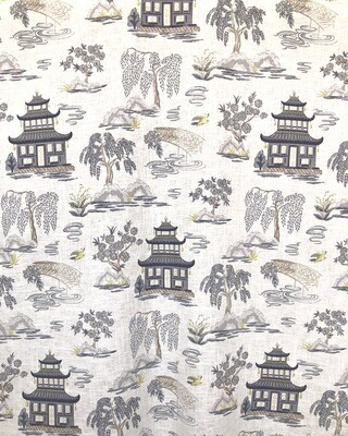 Shanghai Pagoda Fabric By The Yard