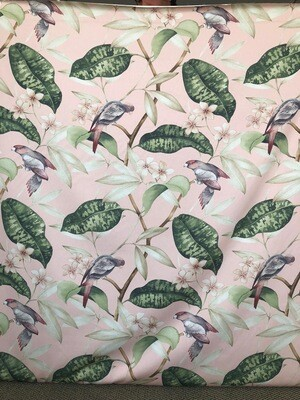 Lilly Bird Blush Fabric By The Yard