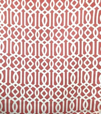 Geo Tangerine Fabric By The Yard