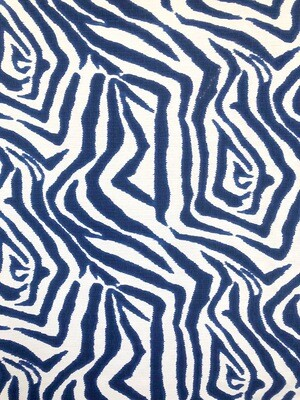 Indigo Zebra Fabric By The Yard