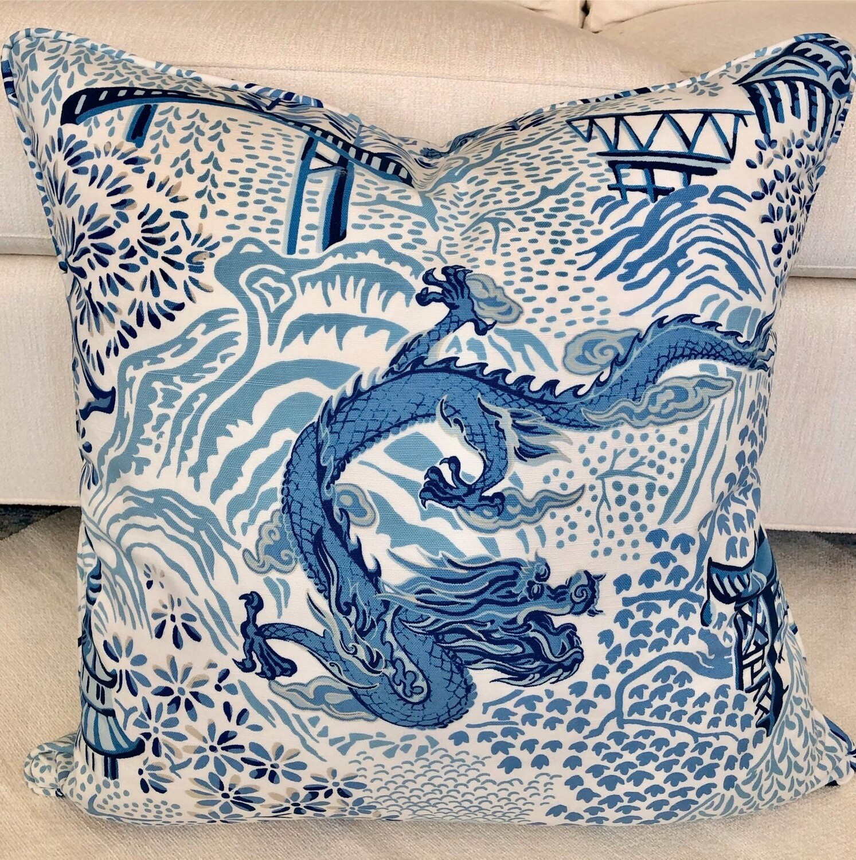 Blue Tokyo Pillow