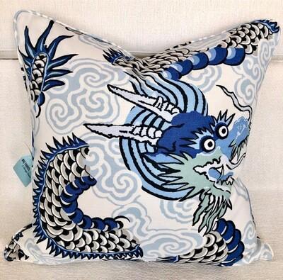 Blue Dragon Pillow
