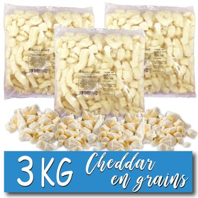 CHEDDAR EN GRAINS – 3 x 1 KG – CAISSE ENTIÈRE