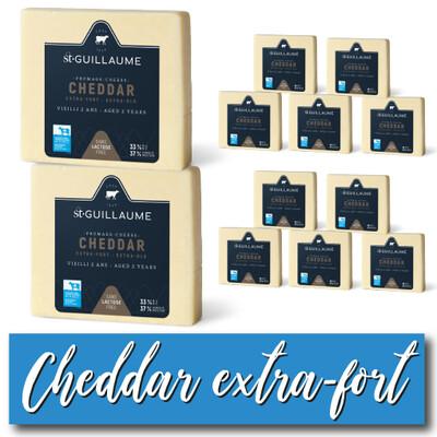 CAISSE CHEDDAR EXTRA-FORT – 2 ANS (SANS LACTOSE)