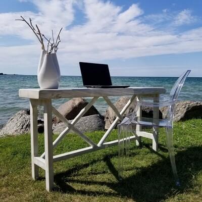 Live Edge X Base Entrance table/Computer Desk
