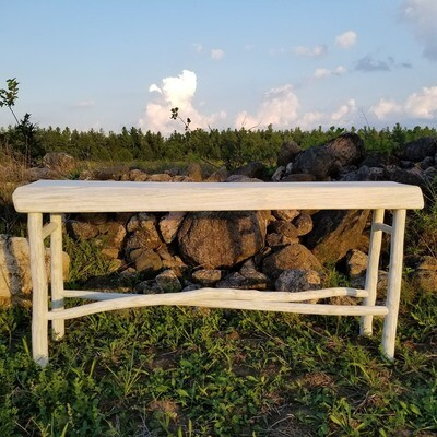 Console table -Live edge with limb base