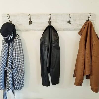 Double hook antique bronze coat rack