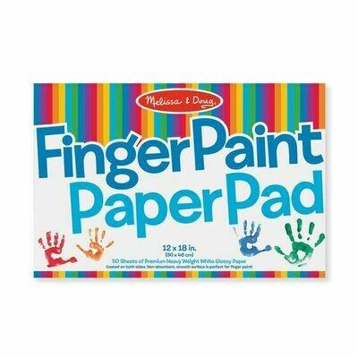 Finger Paint Paper Pad (12