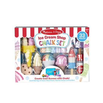 Ice Cream Shop Chalk Set - 33 pieces
