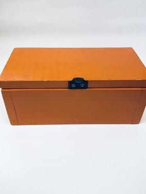 Orange Hinged Box