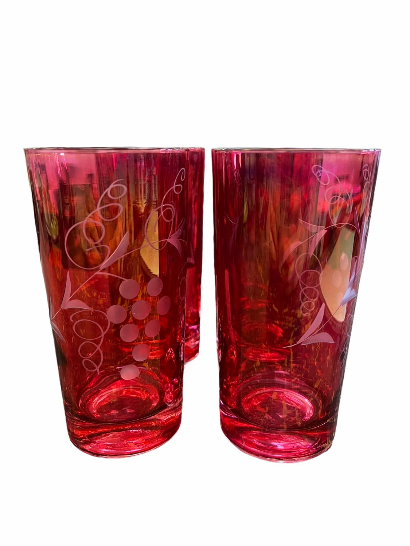 Cranberry Collins Glasses