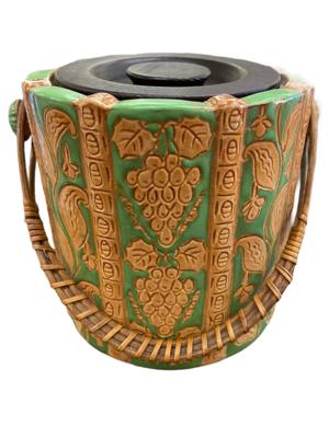Green & Beige Tea/Biscuit Jar