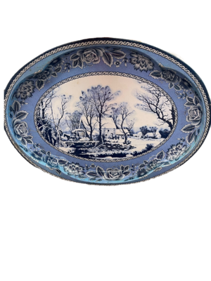 Currier & Ives Grist Mill Tray