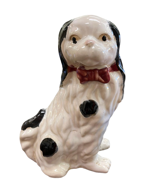 White Glazed Ceramic Dog