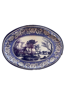 Currier & Ives Grist Mill Tin Tray