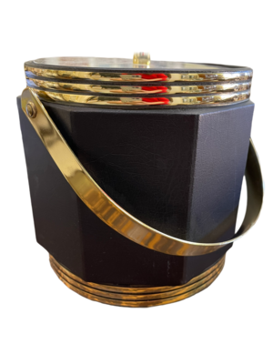 Black/Gold Vintage Ice Bucket