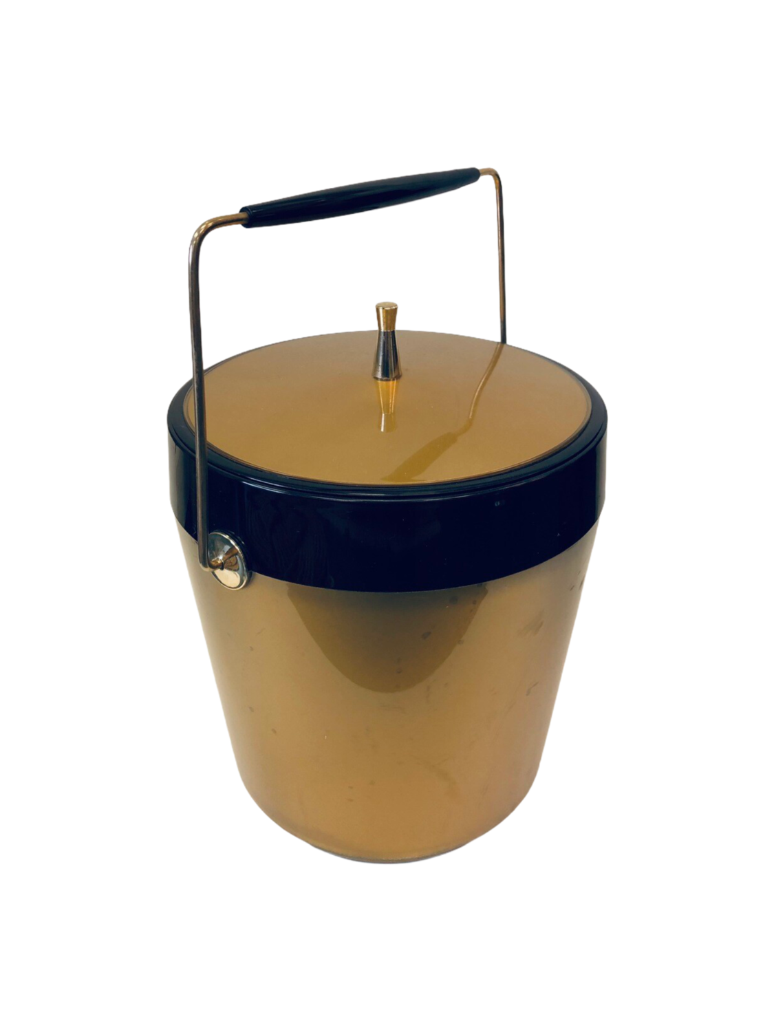 Gold/ Black Vintage Ice Bucket