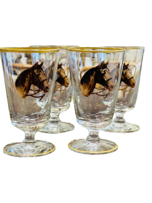 Hand Painted Horse Head Glasses