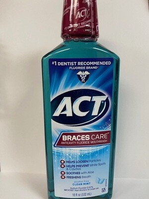 ACT BRACES CARE 8OZ