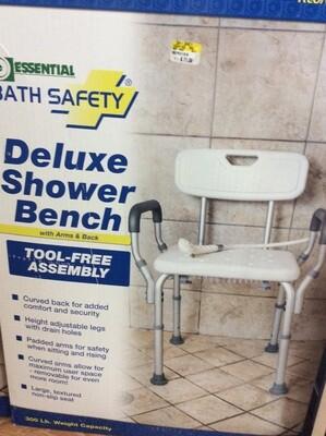 BATH SEAT W/ARMS  BACK B3011