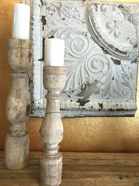 CC DA7923 Found Handcarved Candle Holder