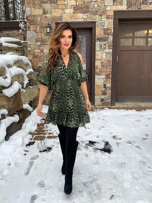 Lovestitch Army Animal Print Dress