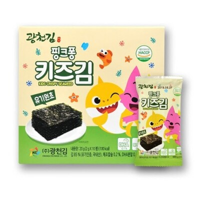 Kwangcheon Organic Kids Crispy Seaweed with Salt (2g*10)