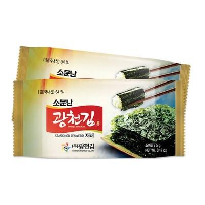 Kwangcheon Seasoned Seaweed for Lunchbox 5g*3