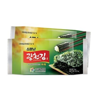 Kwangcheon Seasoned Green Seaweed for Lunchbox 5g*3