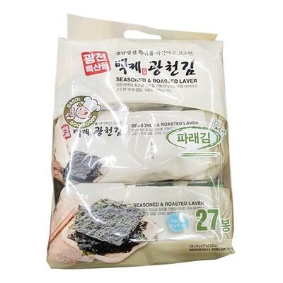 Kwangcheon Dasol Seasoned Green Seaweed for Lunchbox 4g*27