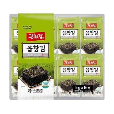 Kwangcheon Seasoned Seaweed Thick 5g*16