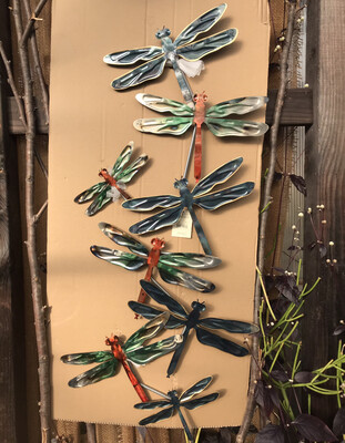 Metallic Wall Decor Dragonflies