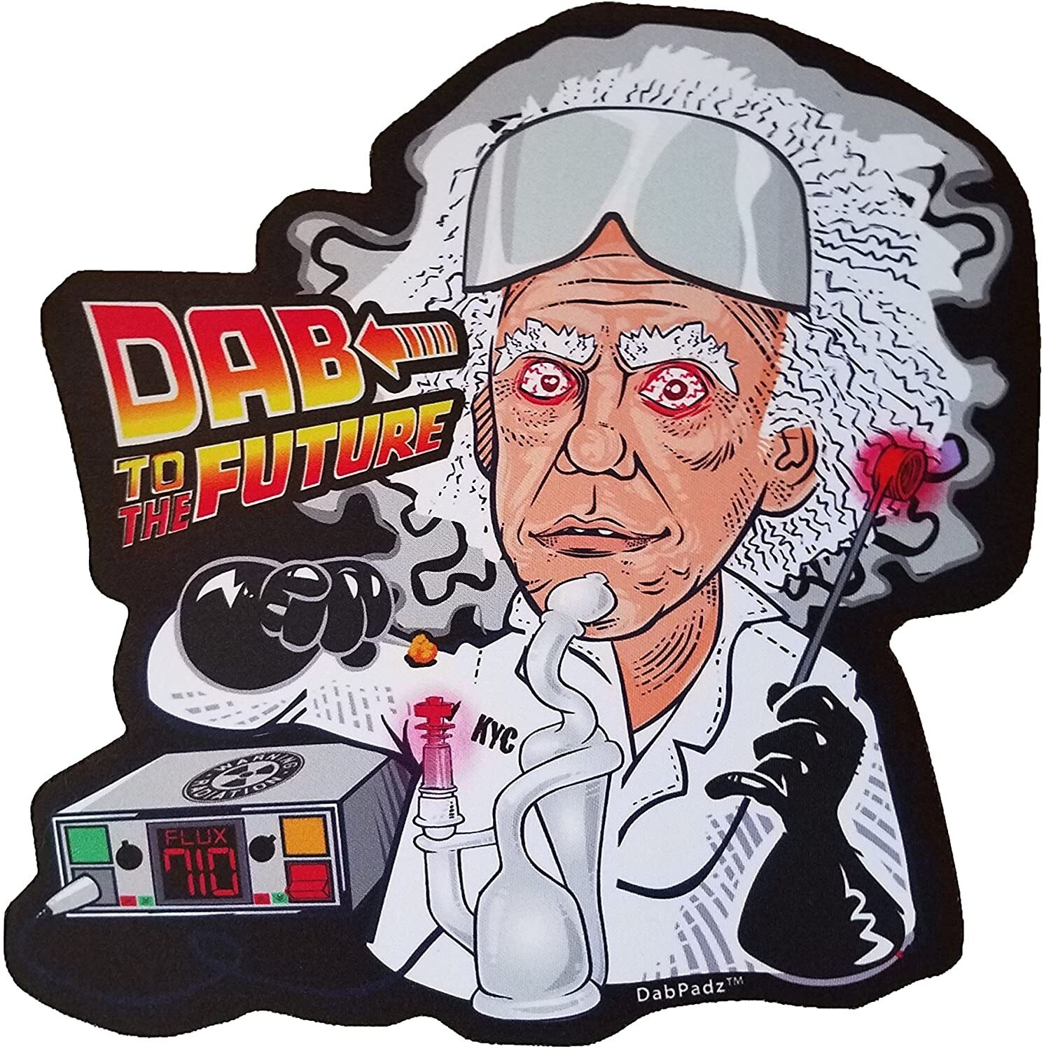 "DabPadz Die Cut Dab Mat 10"" Dab The Future"